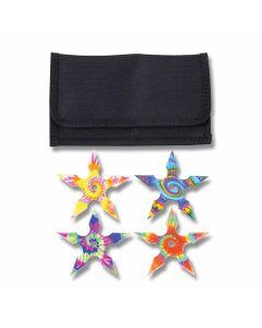 Neptune Trading Trippie Hippie Tie Dye Throwing Stars