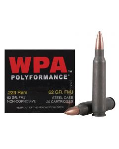 Wolf Polyformance 223 Remington 62 Grain Full Metal Jacket 500 Rounds