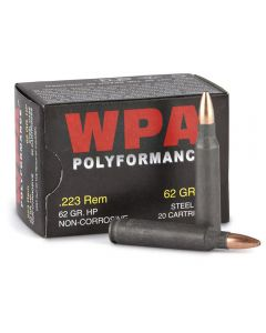 Wolf Polyformance 223 Remington 62 Grain Hollow Point 500 Rounds