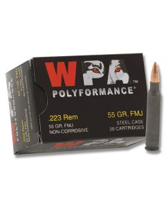 Wolf Polyformance 223 Remington 55 Grain Full Metal Jacket 500 Rounds