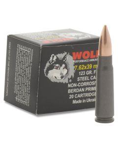 Wolf Polyformance 7.62x39mm 123 Grain Full Metal Jacket 20 Rounds