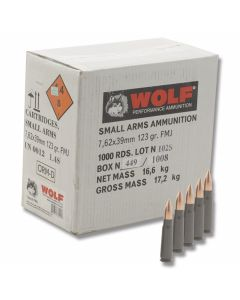 Wolf Polyformance 7.62x39mm 123 Grain Full Metal Jacket 1000 Rounds