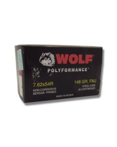 Wolf Performance 7.62x54r 148 Grain Full Metal Jacket 500 Rounds