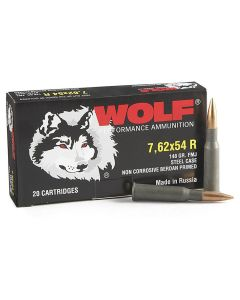 Wolf Gold 7.62x54r 150 Grain Full Metal Jacket 500 Rounds