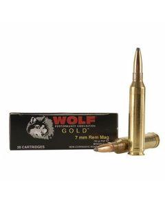 Wolf Gold 7mm Remington Magnum 160 Grain Soft Point 20 Rounds