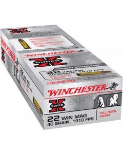 Winchester Super-X 22 Winchester Magnum Rimfire 40 Grain Full Metal Jacket 50 Rounds