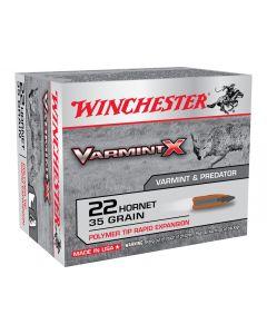 Winchester Varmint X 22 Hornet 35 Grain Polymer TIp 20 Rounds