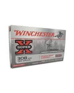 Winchester Super-X 308 Winchester Subsonic 185 Grain Power Point Hollow Point 20 Rounds