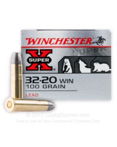 Winchester Super-X 32-20 WCF 100 Grain Lead Flat Nose 50 Rounds