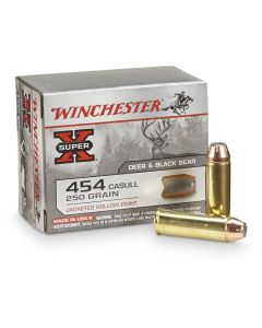 Winchester Super-X 454 Casull 250 Grain Jacketed Hollow Point 20 Rounds
