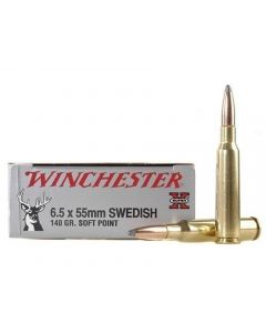 Winchester Super-X 6.5x55mm Swedish Mauser 140 Grain Jacketed Soft Point 20 Rounds