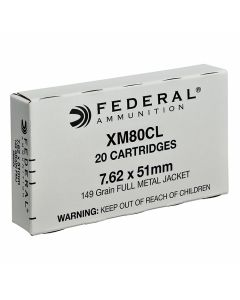 Federal XM 308 Winchester/7.62 NATO 149 Grain Full Metal Jacket 20 Rounds