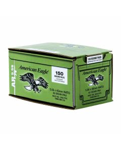 Federal American Eagle XM 223 Remington/5.56 NATO 62 Grain Full Metal Jacket 150 Rounds