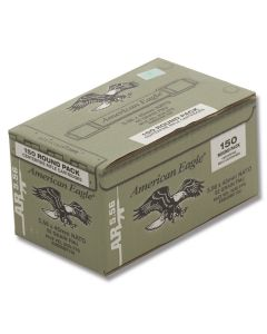 Federal American Eagle 5.56x45mm NATO 62 Grain Full Metal Jacket 150 Rounds