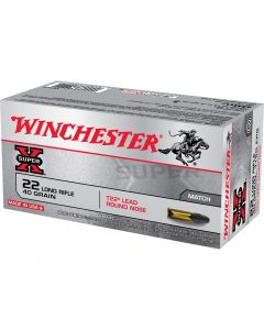 Winchester Super-X T22 Target 22 Long Long Rifle 40 Grain Round Nose 50 Rounds