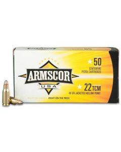 Armscor USA 22 TCM 9R 39 Grain Jacketed Hollow Point 50 Rounds