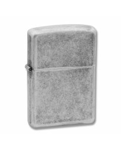 "Zippo ""Antique Silver Plate"" Lighter Model 121FB"