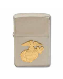 "Zippo ""Marines"" Insignia Lighter with Brushed Chrome Finish Model 280MAR"