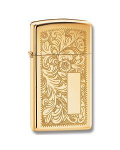 Zippo Venetian Brass Slim Lighter