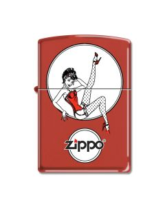 Zippo Vintage Pin-Up Red Matte Lighter