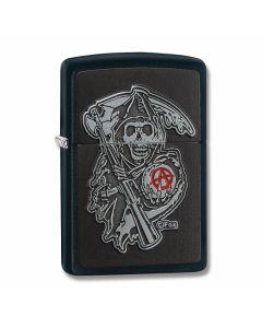 Zippo Black Matte Sons of Anarchy Zippo Lighter Model 29489