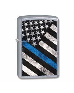Zippo Police Flag Street Chrome Lighter Model 29551