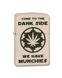 Zippo Cream Matte Dank Side Lighter Model 29590