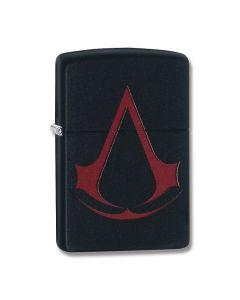 Zippo Black Matte Assassin Creed Red Symbol Lighter