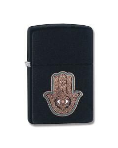 Zippo Black Matte Hamsa Hand Lighter