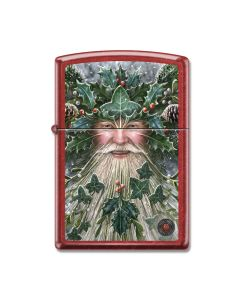 Zippo Candy Apple Red Anne Stokes Father Christmas Lighter Model 21063CI402434
