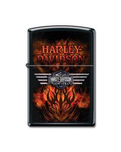 Zippo Black Matte Harley-Davidson Feiry Furnace Lighter