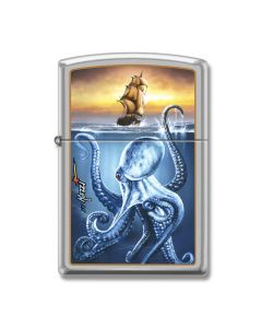 Zippo Street Chrome Mazzi Sea Creature Lighter Model 207-052395