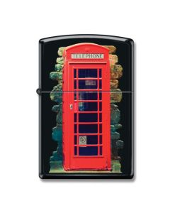 Zippo Black Matte London Calling Lighter Model 218-065767