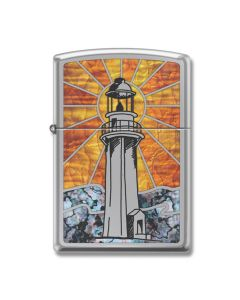Zippo High Polish Chrome Lighthouse Lighter Model 250-065774