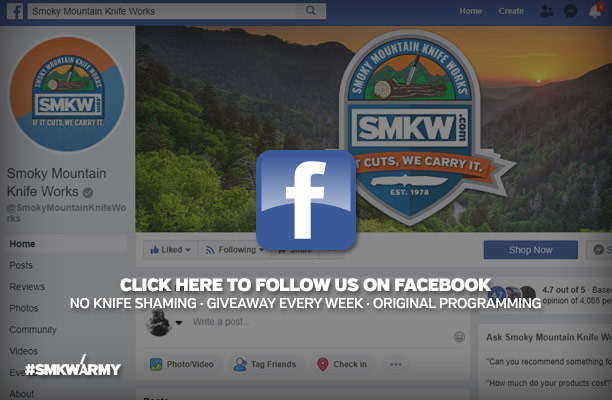 Click Here to Follow Us on Facebook - No Knife Shaming, Giveaway, Every Week, Original Programming