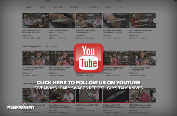 Click Here to Follow Us on Youtube - Giveaways, Daily Swaggs Report, Guys Talk Knives
