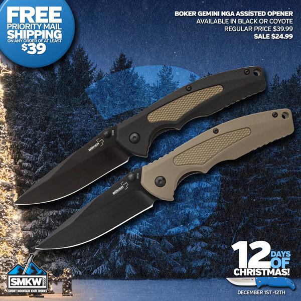 Boker Gemni II - Black or Coyote Today $24.99 each!