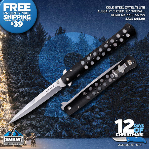 Cold Steel Ti-Lite Zy-Ex Large - Today $44.99!