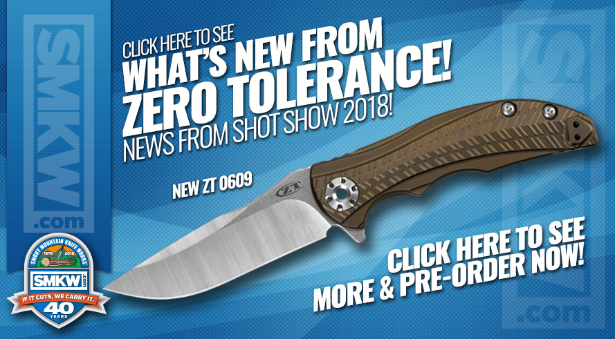 New 2018 Zero Tolerance Knives Available to Pre-order!