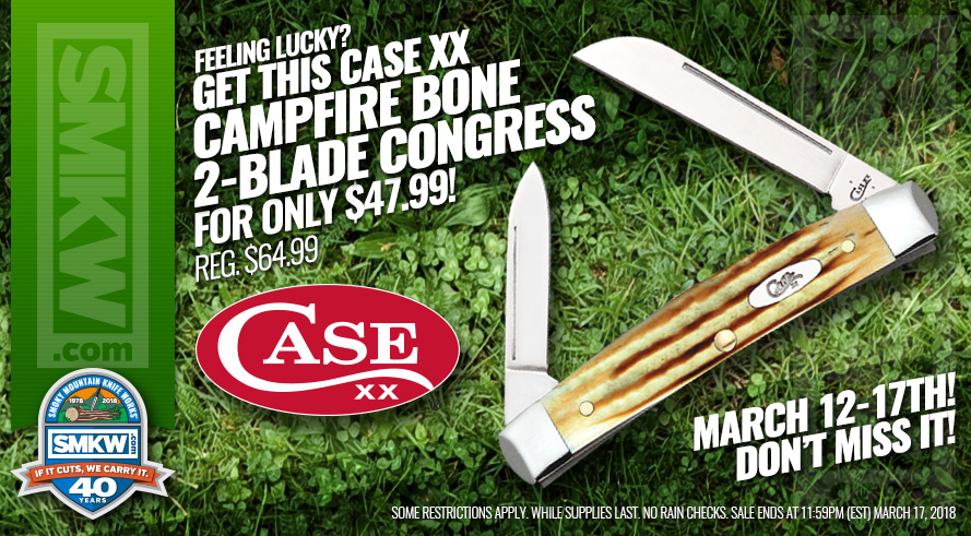 Case XX Campfire Bone 2-Blade Congress Just $47.99!