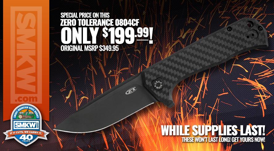 Zero Tolerance Knives 0804CF with Carbon Fiber Handles Closeout - Now $199.99!