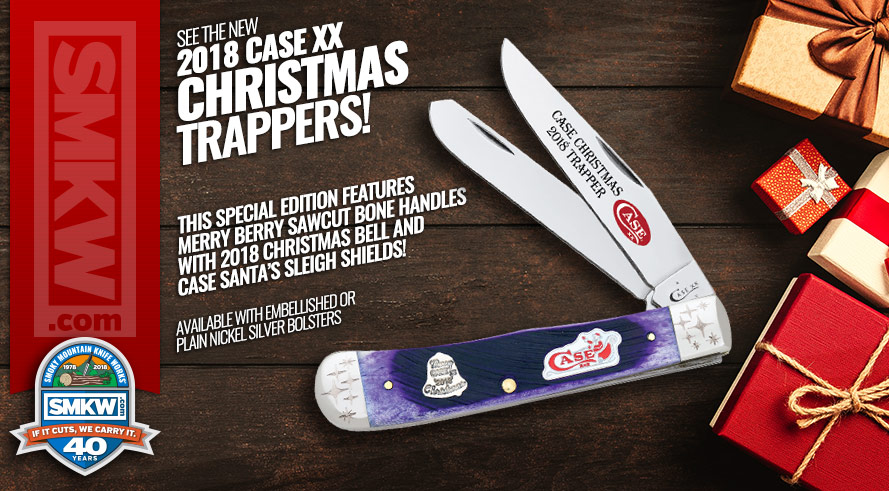 See the New 2018 Case XX Christmas Bell Trappers!
