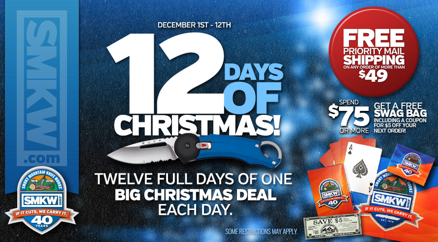 12 Days of Christmas Sale! Orders of $49 or more receive Free Shipping. Orders of $75 or more receive a free SMKW Swag Bag (PDBAG) and free shipping. Web-only! Not Valid in Retail Showroom. Not Valid with Any Other Offers or Promotions. Excludes Ammo, and Flammables. Bulk rates may apply to oversized orders. Excludes orders shipping to AK, HI, and US territories. Limit 1 of free item per order. While supplies last. Offer ends 12/12/18 at 11:59 pm EST.
