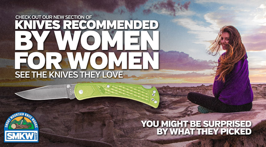 Knives Recommended By Women for Women.