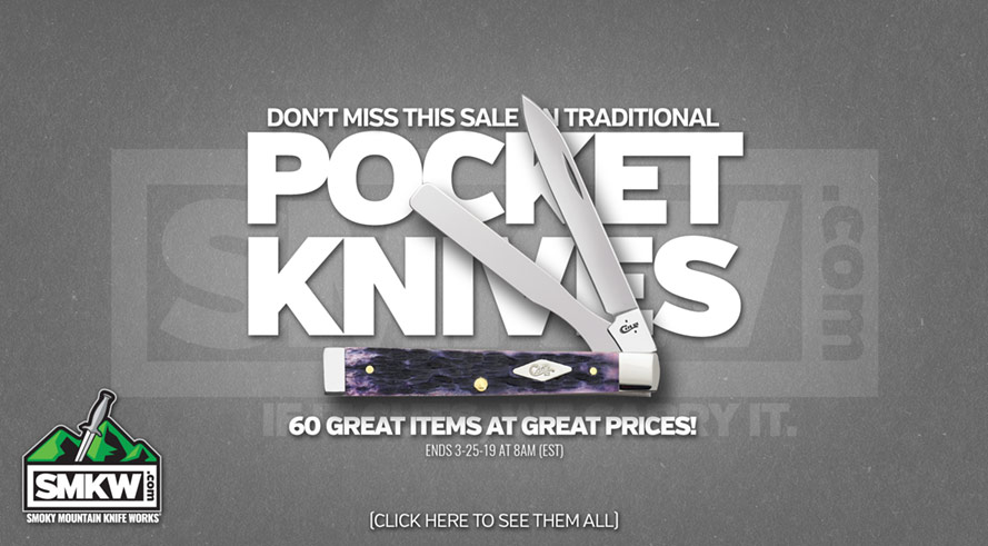 TRADITIONAL POCKETKNIVES SALE - 60 great traditional pocketknives at amazing prices!