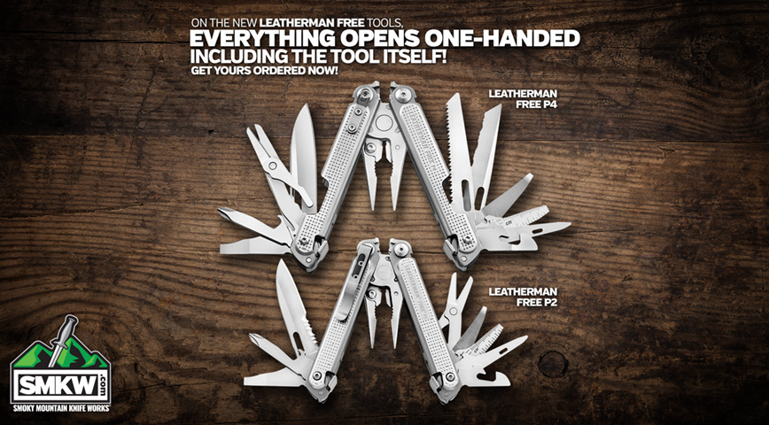Everything Opens One-Handed on the New Leatherman Free Tools!