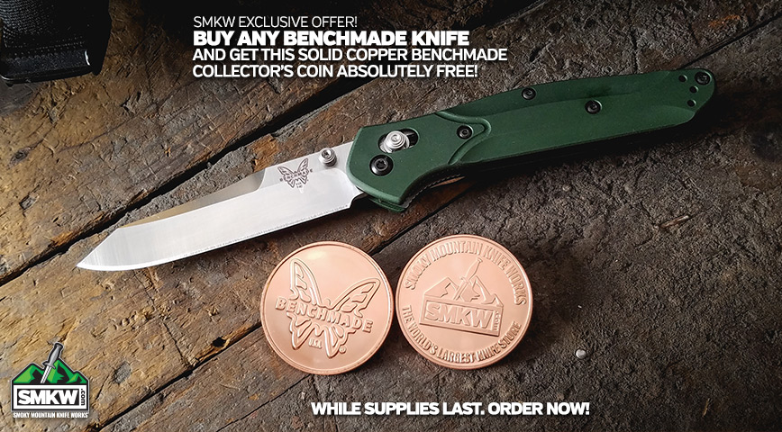 Free Benchmade Collector's Coin with Any Benchmade Knife Purchase