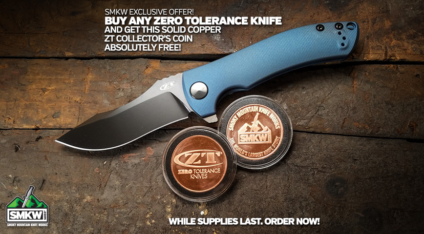 Free Zero Tolerance Collector's Coin with Any Zero Tolerance Knife Purchase