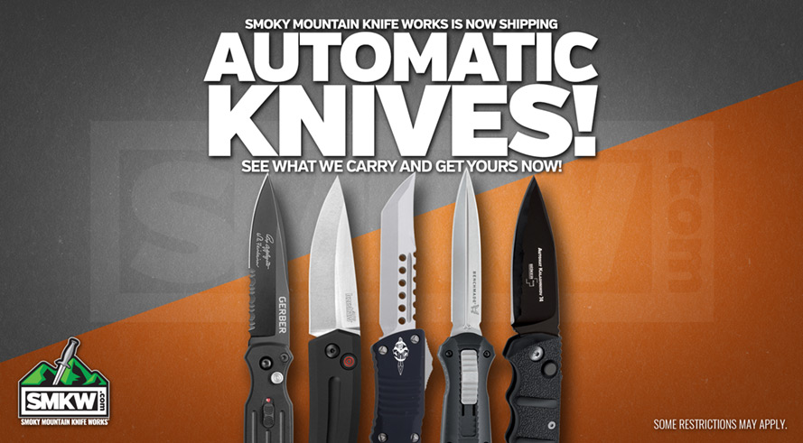 Check out our large selection of automatic opening knives!