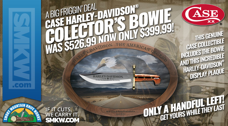 Case Harley-Davidson Bowie with Collector's Plague